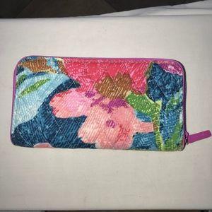 Vera Bradley RFID Georgia Zip Wallet Superbloom